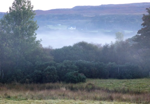Early morning mist over Loch Cuin
