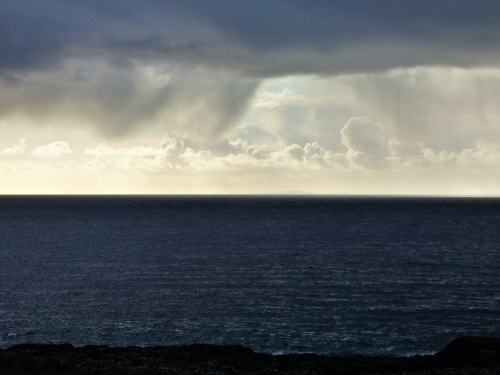 Moody sky from Calgary to Tiree
