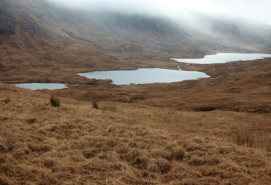 Three lochs from Glen More road